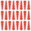 Plastic Stacking Beads Transparent Raspberry